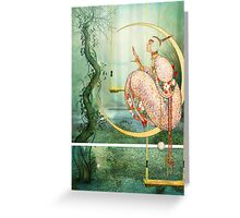 PARADISE MOON Greeting Card