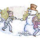Snowball Fight! by Amber Witt