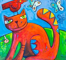 Kitty Loves by ART PRINTS ONLINE         by artist SARA  CATENA