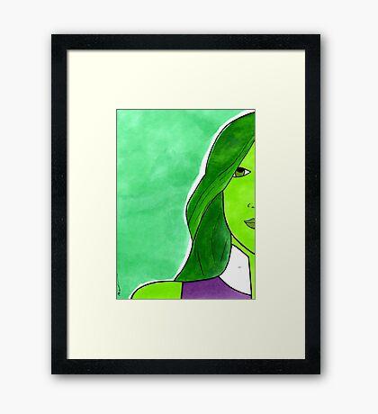 She Hulk – Legal Eagle & Badass Superhero Framed Print