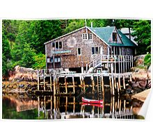 Maine Nautical Scene Poster