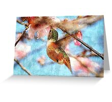 Humming on Texture Greeting Card