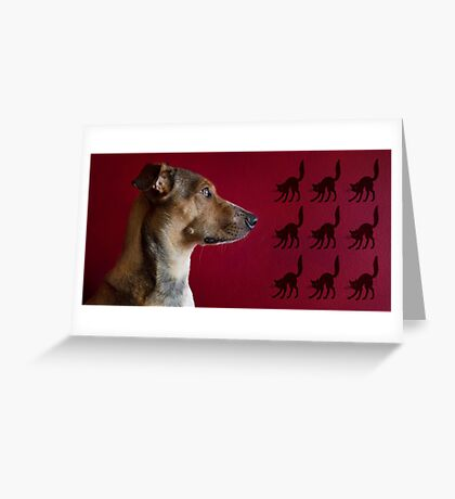 Cat Chaser Greeting Card