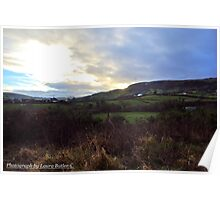 Winter afternoon, Carnlough Glen, County Antrim Poster