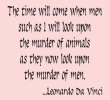 Vegetarian Quote Leonardo Da Vinci One Piece - Short Sleeve
