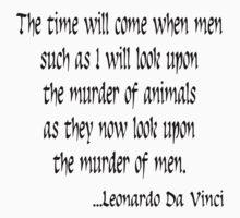 Vegetarian Quote Leonardo Da Vinci Kids Tee