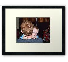 A Christmas Hug Framed Print