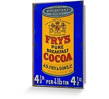 Tin Plate Sign - Fry's Breakfast Cocoa Greeting Card
