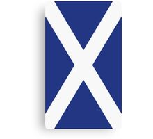 The Flag of Scotland Print Canvas Print