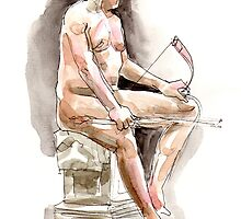 From life drawing by Karin Zeller