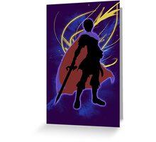 Super Smash Bros. Dark Blue/Roy Marth Greeting Card