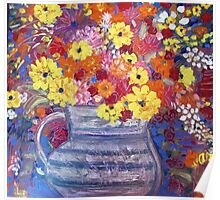 A Jug of Flowers Poster