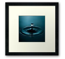 Fine Art Water Drop Photography - Thin Lady Framed Print