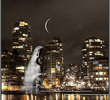 Vancouver Skyline Mindscape by Wayne King