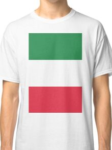 The Flag of Italy Print Classic T-Shirt