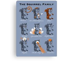 The Squirrel Family Canvas Print