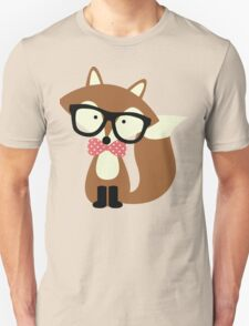 Red Bow Tie Hipster Fox Unisex T-Shirt
