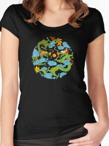 Chinese Dragon T-Shirt Women's Fitted Scoop T-Shirt