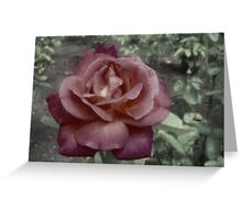 vintage style Melies rose Greeting Card