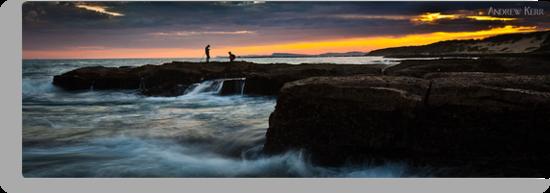 Rock Fishing - Norah Head by Andrew Kerr