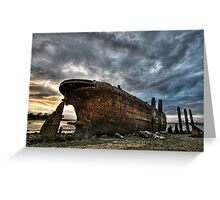 Boat Wreck Greeting Card