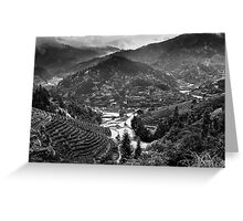 Terraced Mountain Minority Village Greeting Card