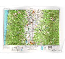 USGS Topo Map Oregon Salem 283352 1960 250000 Poster