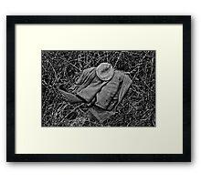 Guns Coat & Hat Framed Print