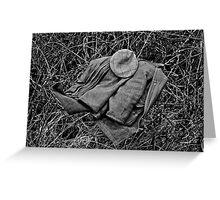 Guns Coat & Hat Greeting Card