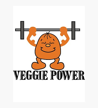 Veggie Power Photographic Print