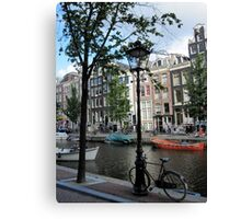 Canals in Amsterdam Canvas Print