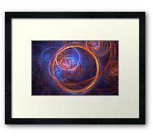 Rings of Oblivion - Ring Fractal Framed Print