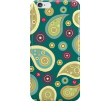 Awesome Green and Gold Paisley  iPhone Case/Skin