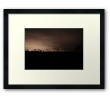 Cold Dark Night - Williams Grove, Pennsylvania Framed Print