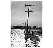 Pylons in the snow  Poster