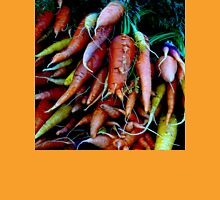 ORGANIC SMALL FARM RAINBOW CARROTS (WHITEFISH FARMER SERIES) Unisex T-Shirt