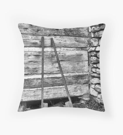 Early Garage Throw Pillow