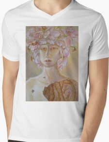Rosewoman - Portrait In Crayon With Thorns For Teeth Mens V-Neck T-Shirt