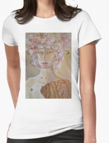 Rosewoman - Portrait In Crayon With Thorns For Teeth Womens Fitted T-Shirt