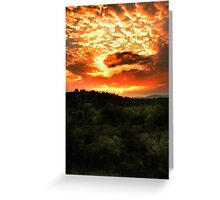 Sunset over the Blue Ridge Mountains Greeting Card