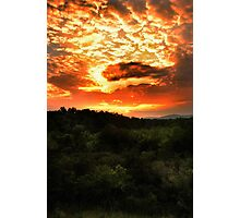 Sunset over the Blue Ridge Mountains Photographic Print