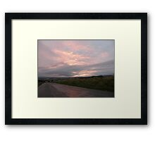Pink sky -  Derry Ireland Framed Print