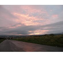 Pink sky -  Derry Ireland Photographic Print
