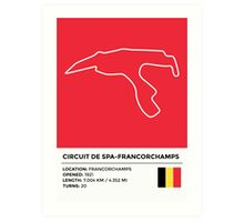 Circuit de Spa-Francorchamps - v2 Art Print