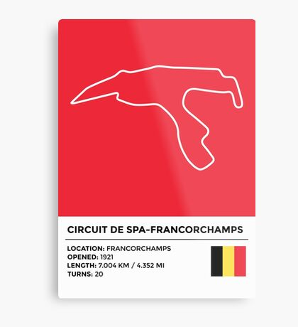 Circuit de Spa-Francorchamps - v2 Metal Print