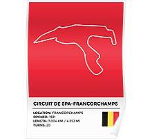 Circuit de Spa-Francorchamps - v2 Poster