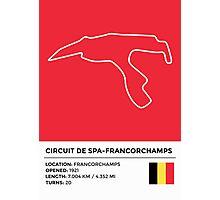 Circuit de Spa-Francorchamps - v2 Photographic Print