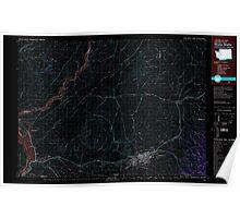 USGS Topo Map Washington Walla Walla 244511 1980 100000 Inverted Poster