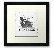 The Saint Bear Framed Print