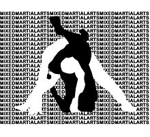 MMA MIXED MARTIAL ARTS TRIANGLE CHOKE 2 Photographic Print
